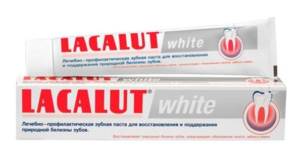 Отбеливающая зубная паста для зубов LACALUT white