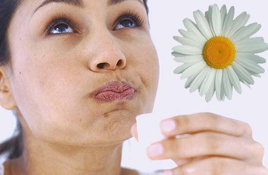При катаральном воспалении хорошо помогают полоскания рта отварами таких лекарственных растений как ромашка и календула