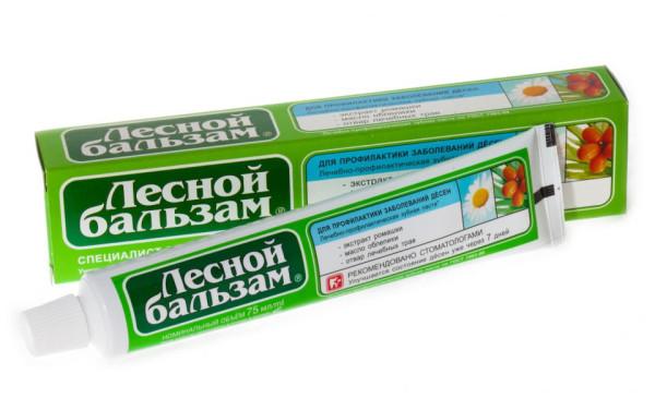 """Зубная паста """"Лесной бальзам"""" для профилактики заболевания дёсен"""