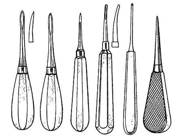 Инструменты для удаления корней зубов